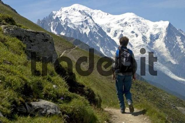 Ascent to the Prince-Albert-Refuge, Mont Blanc, Le Tour Chamonix France