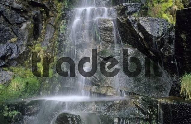 small waterfall in the Cascade Range, Washington State, USA