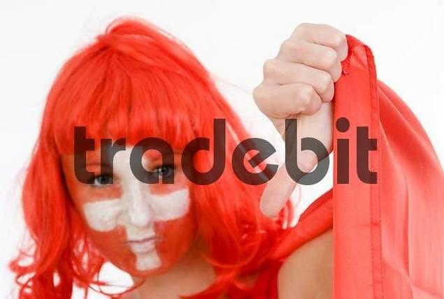 Female football supporter, Switzerland fan