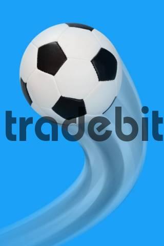 Football flying through the air, curve