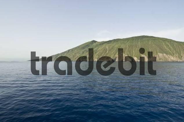 Vulcano Island surrounded by the sea, Aeolian Islands, Sicily, Italy