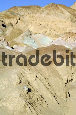 Artists Palette, eroded landscape along Artists Drive in Death Valley, Death Valley National Park, California, USA, North America