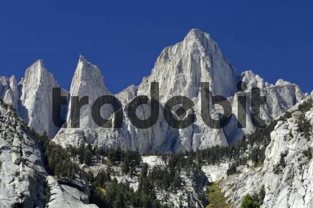 Höchster Berg Kaliforniens, Mount Whitney 4350 m, Gipfel der Sierra Nevada, Kalifornien, USA, Nordamerika