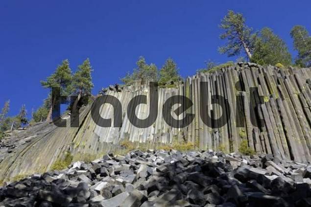 Basalt columns at Mammoth Lake, Devils Postpile National Monument, California, USA