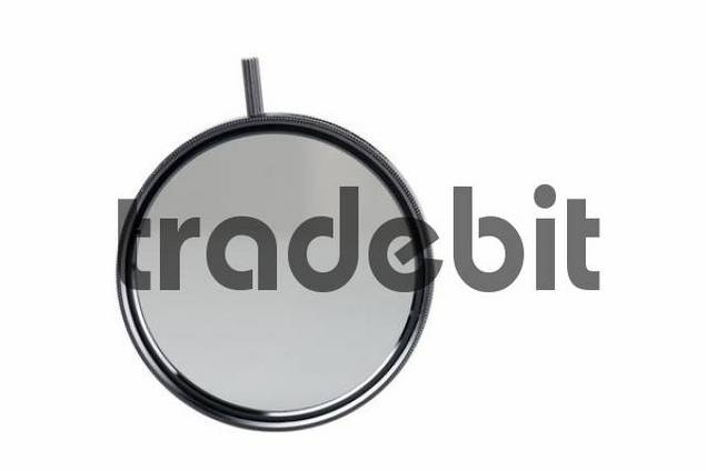 Round polarising filter, cutout
