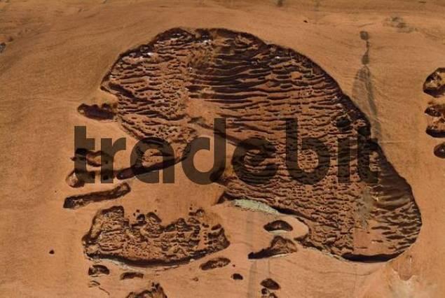 Textured holes, Ayers Rock or Uluru, Northern Territory, Australia