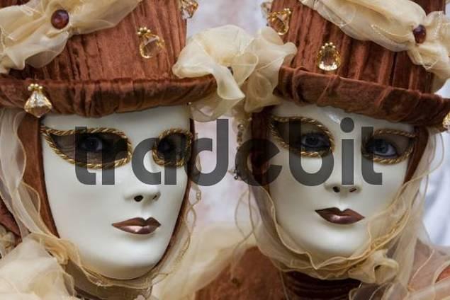Pair of masks, Carnevale di Venezia, Carnival in Venice, Italy