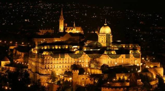 Castle at night, Budapest, Hungary
