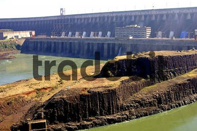 Dam Itaipu power plant Foz do Iguau Brazil