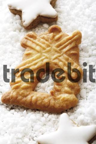 Speculaas biscuit, Dutch windmill cookie with coarse sugar