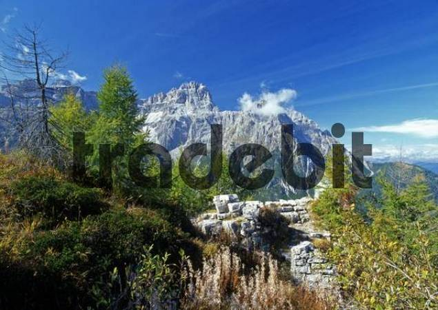 Mt. Rotwandwiesen, Mt. Dreischusterspitze and Mt. Gsellknoten, Sexten Dolomites, Bolzano-Bozen, Italy
