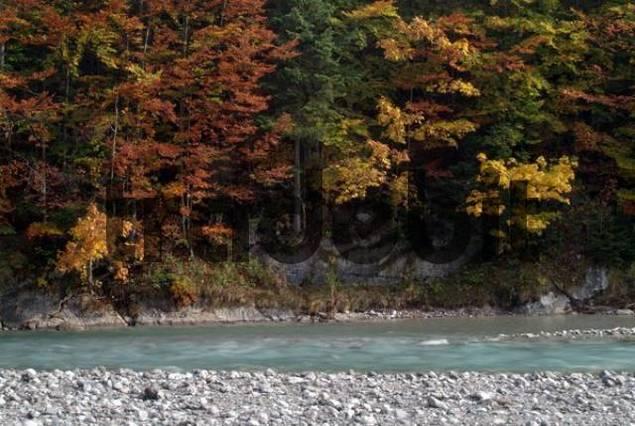 Rissbach River, Karwendel Range, Tirol, Austria
