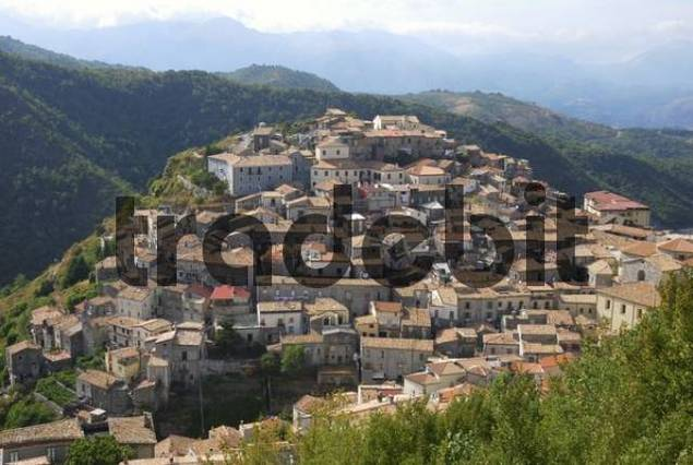 Mountain village in Pollino National Park, Calabria, Southern Italy