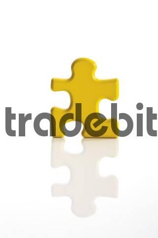 Yellow puzzle piece