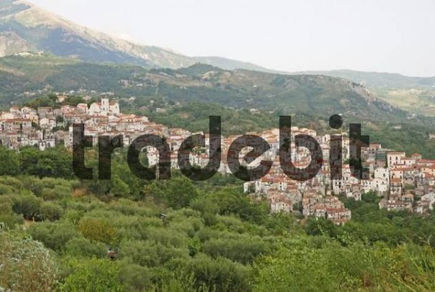 Panoramic view of Rivello, Basilicata, Potenza, Southern Italy