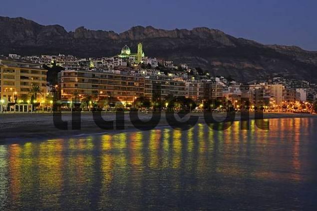 Altea at night, Alicante, Costa Blanca, Spain