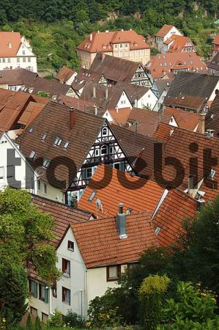 view of houses a roofs calw black forest baden wuerttemberg ge. Black Bedroom Furniture Sets. Home Design Ideas