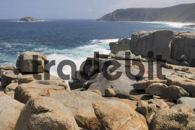 The Blowholes, rocky coastline, Torndirrup National Park near Albany, Western Australia, Australia