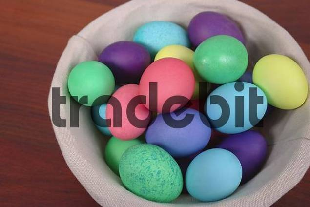 Easter Eggs in Round Basket