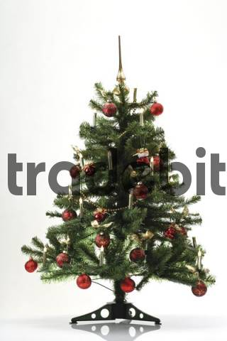 Decorated Christmas tree artificial