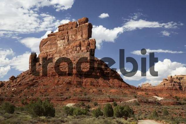 Rock formation in Valley of the Gods, Utah, USA