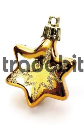 Golden star Christmas tree ornament