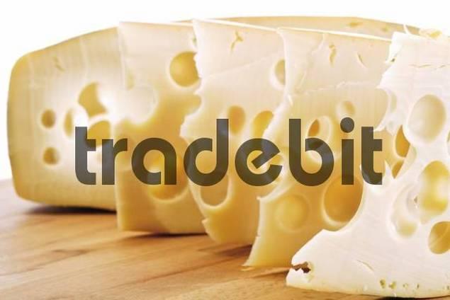 Wedges of Leerdammer cheese