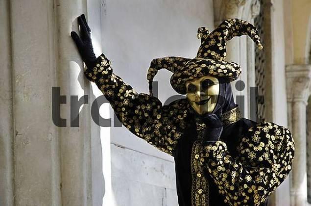 Harlekin mask at carneval in Venice, Italy