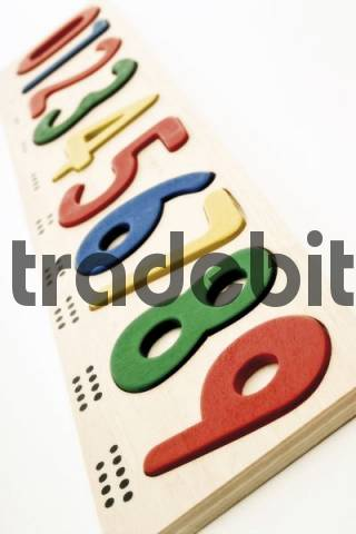 Wooden numbers and number block