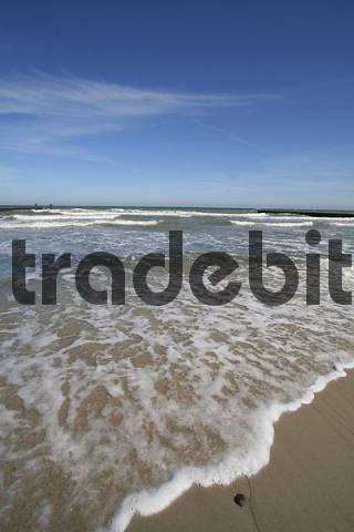 baltic sea wave on the beach