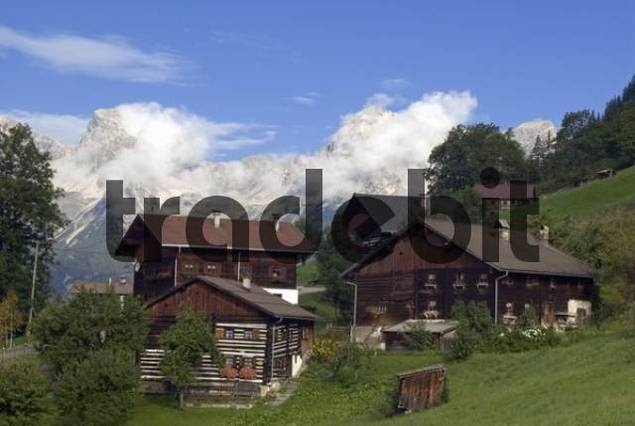 Bschlabs mountain village, Bschlabertal Valley, Ausserfern, Tyrol, Austria, Europe