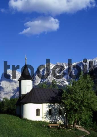 Antonius Chapel in Kaiser Valley, Kufstein, Tyrol, Austria, Europe