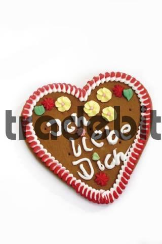 Gingerbread heart, Ich liebe Dich