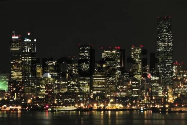 Seattle skyline at night, Washington, USA
