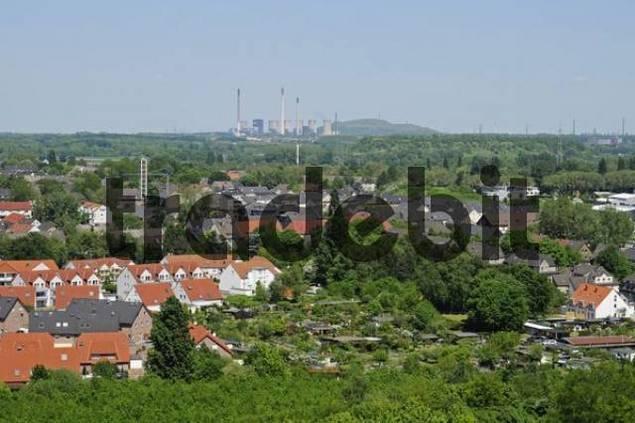 View from the Schurenbachhalde, Ruhr district, Essen, North Rhine-Westphalia, Germany, Europe