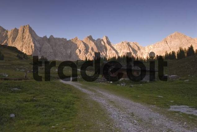Ladiz-Alm alpine pasture, Karwendel Range, Tyrol, Austria, Europe