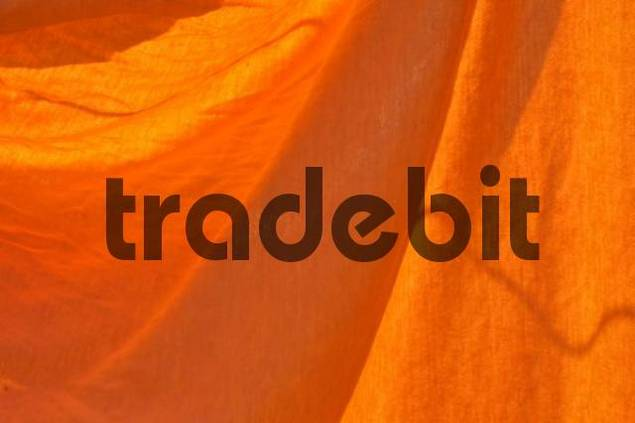 Orange fabric, cloth with creases