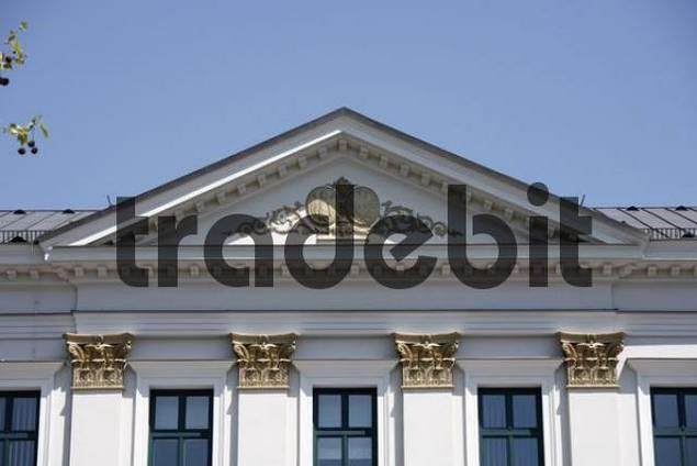Almeida-Palais, erbaut 1823 von Jean Baptiste Metivier, Brienner Straße, München, Oberbayern, Bayern, Deutschland, Europa