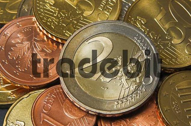 Close up of a two Euro coin