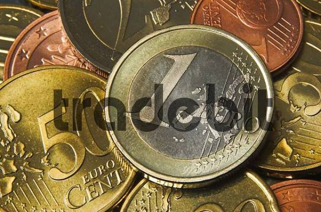 Close up of a one Euro coin
