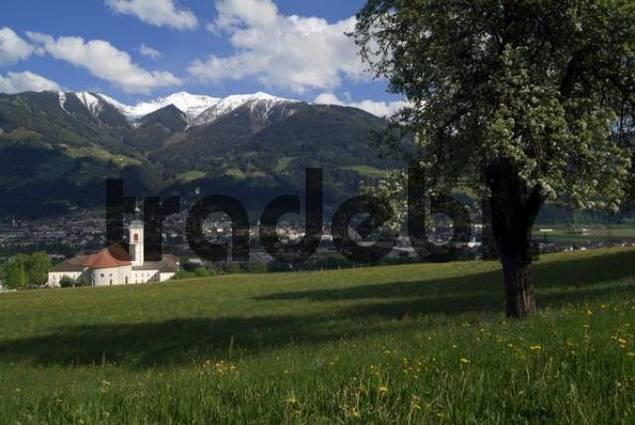 Schwaz and the St. Georgenberg-Fiecht Abbey, Tyrol, Austria, Europe