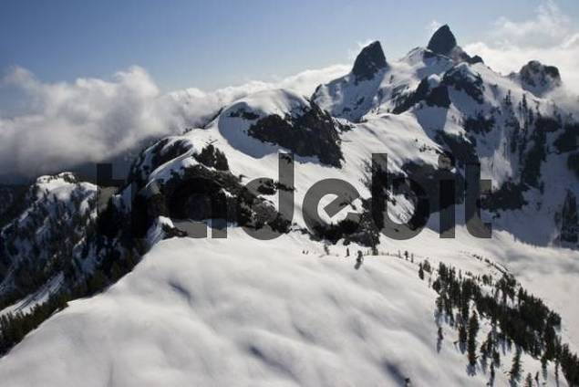 Rocky mountains near Mt Seymour Provincial Park, Vancouver, British Columbia, Canada, North America