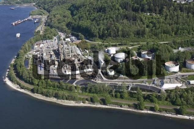 Oil refinery, Vancouver, British Columbia, Canada, North America