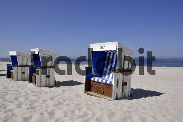 Beach chairs, Westerland, Sylt Island, North Frisian Island, Schleswig Holstein, Germany, Europe