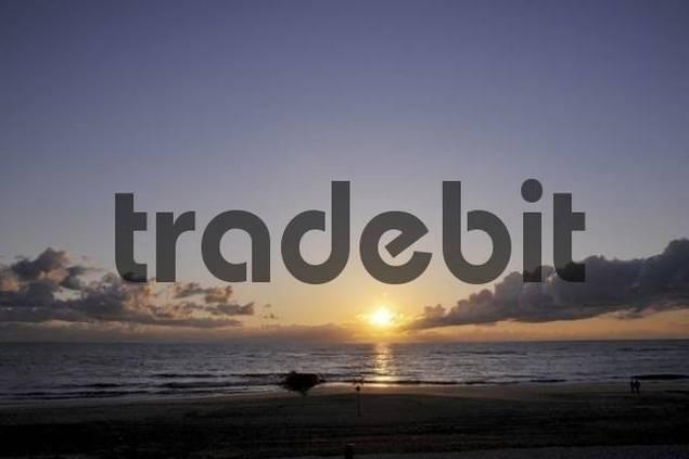 Brandenburger Strand, Brandenburg Beach, evening, Westerland, Sylt, North Frisian Islands, Schleswig Holstein, Germany, Europe
