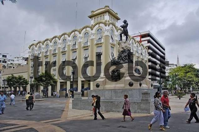 Battlemonument near Gouvernment Palacel in Guayaquil Ecuador Southamerica