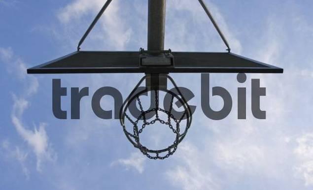 Metal basketball basket