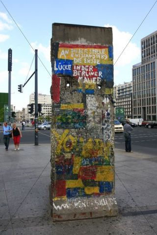 Memorial to the first gap in the Berlin Wall in 1989, Berlin, Germany, Europe