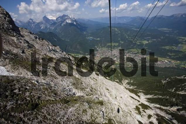 Karwendelbahn cable car, Mittenwald, Werdenfelser Land, Upper Bavaria, Germany, Europe