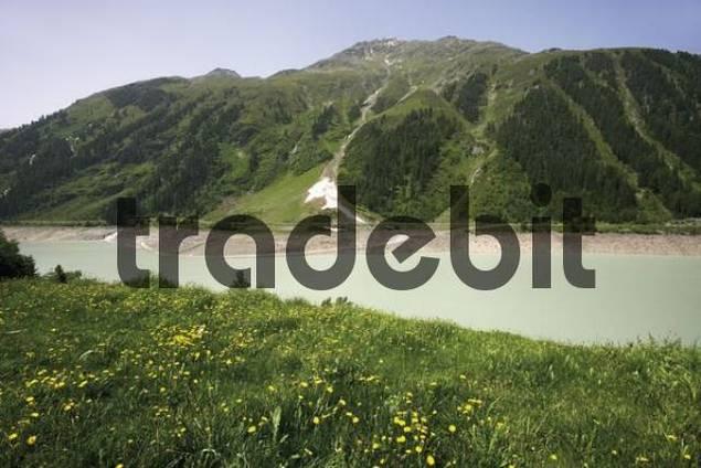 Gepatschstausee Reservoir, Kaunertal Valley, Tyrol, Austria, Europe